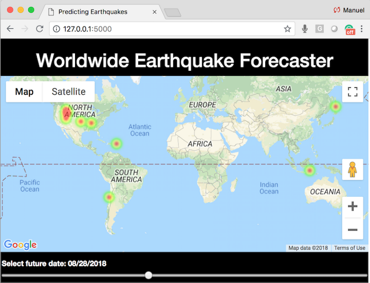 Machine Learning Project 2 - Predicting Earthquakes with Google Maps