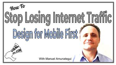 Stop Losing Half of Your Internet Traffic and Design for Mobile First.