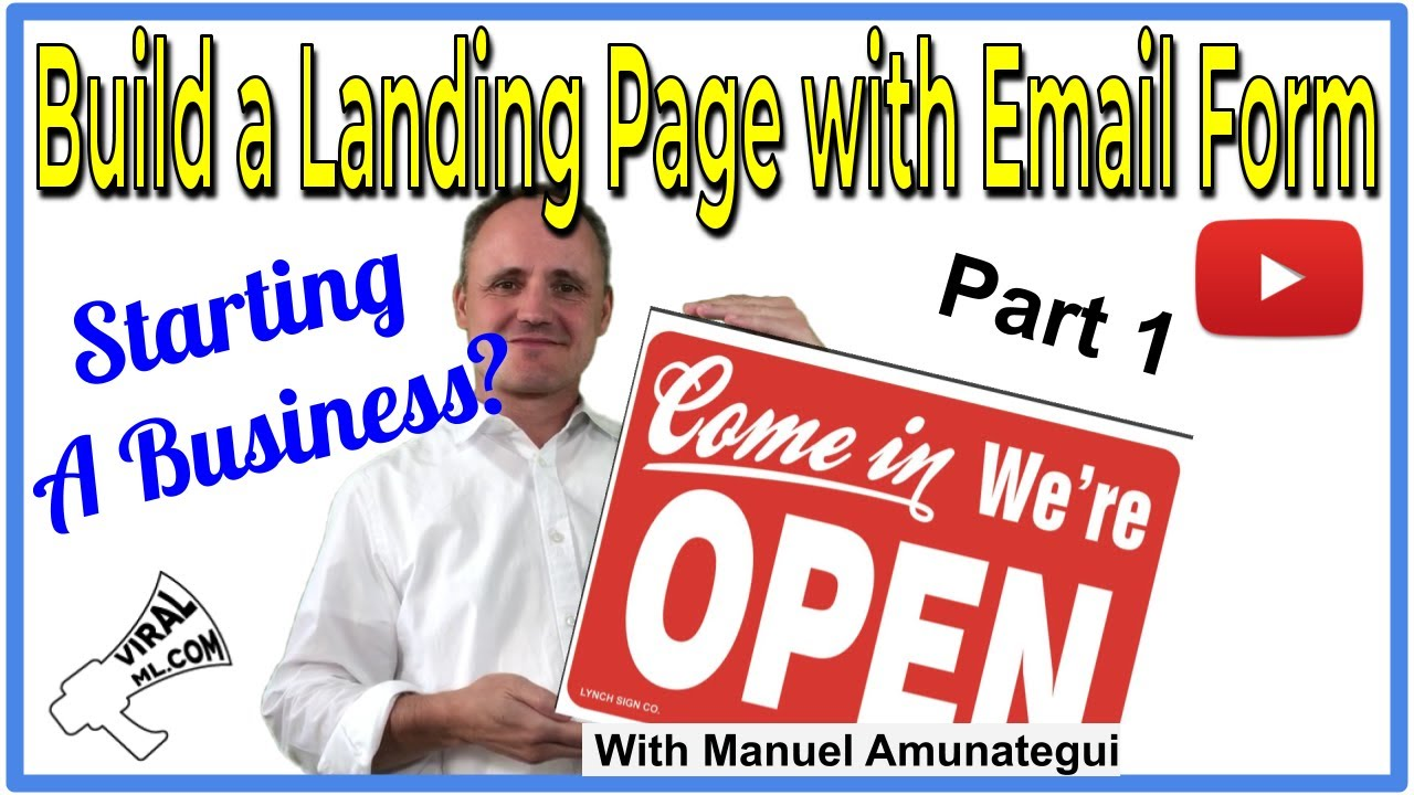 Starting a New Business? Here Is How to Set up a Landing Page with Contact Form - Part 1