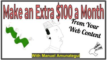 Make an Extra $100 a Month From Your Web Content
