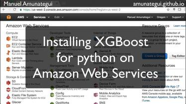Easy way to install XGBoost on AWS