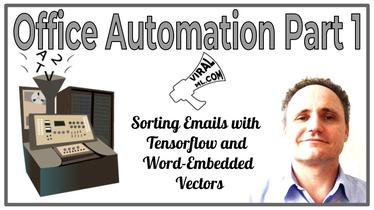 Office Automation Part 1 - Sorting Emails with Tensorflow and Word-Embedded Vectors