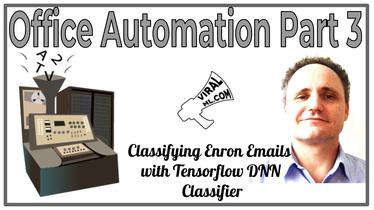 Office Automation Part 3 - Classifying Enron Emails with Google's Tensorflow DNN Classifier