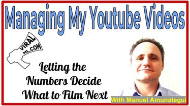 Managing My Youtube Videos — Letting the Numbers Decide What to Film Next