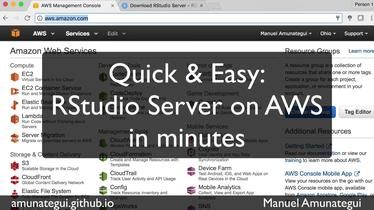 Quick and easy way to get RStudio Server up and running on AWS
